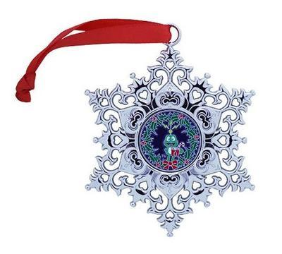 Snowflake Ornament Geocoin - Wreath - 1