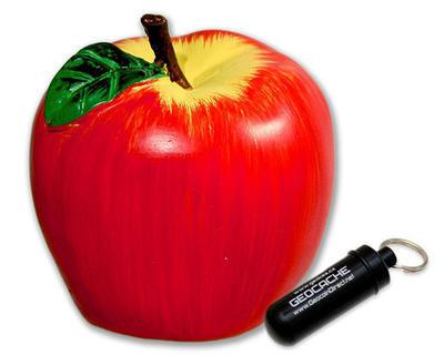 Apple geocache - complete kit - 1