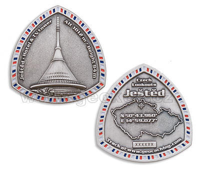 Jested geocoin - Antique Silver