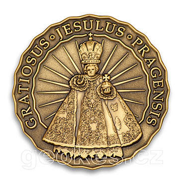 Jesulus Pragensis - Prague Geocoin 2012 - Antique Bronze - 1