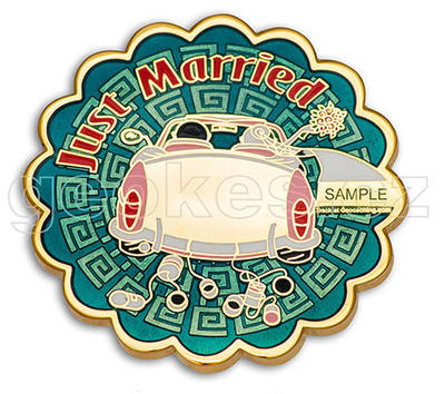 Just Married Geocoin - Gold - 1