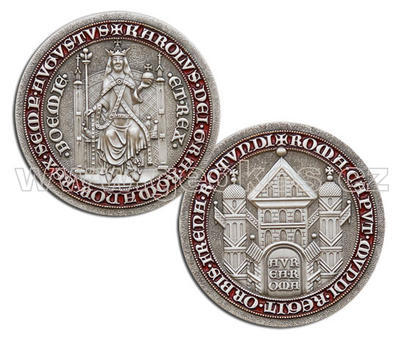 Karel IV – King of Bohemia Geocoin - Antique Silver - 1
