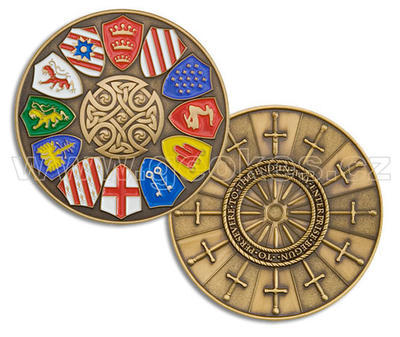 Knights of the Round Table Geocoin - Antique Gold - 1