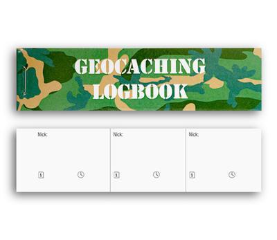 Logbook for big PET geocache