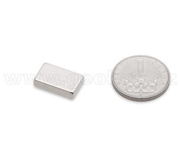 Magnet neodymium block 15x10x4 mm