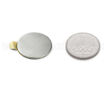 Magnet neodymium disc 20x1 mm self adhesive