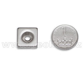 Magnet neodymium 19x15 mm with hole
