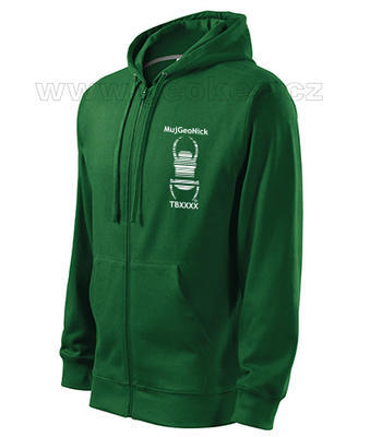 Travel bug trackable hoodie with nick - 1