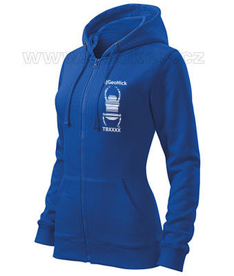 Travel bug trackable ladies hoodie with nick - 1