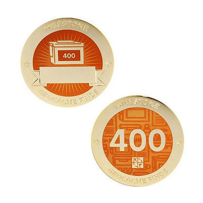 400 Finds Milestone Geocoin and Tag Set - 1