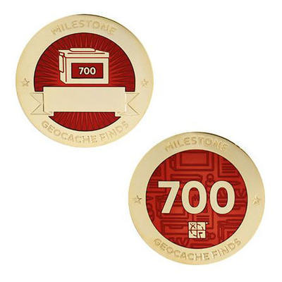 700 Finds Milestone Geocoin and Tag Set - 1