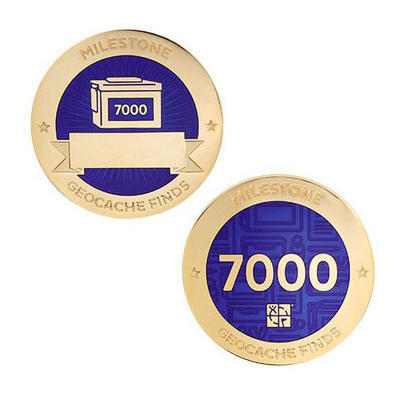 7.000 Finds Milestone Geocoin and Tag Set - 1