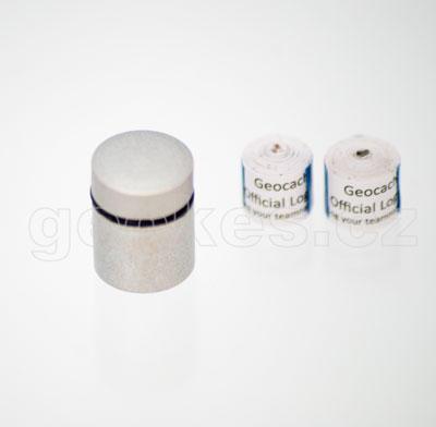 Nano cache silver + 2 x log sheet