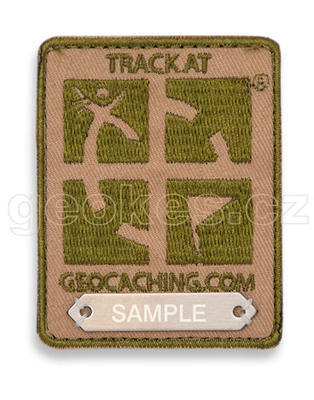 Trackable Geocaching Patch - Brown