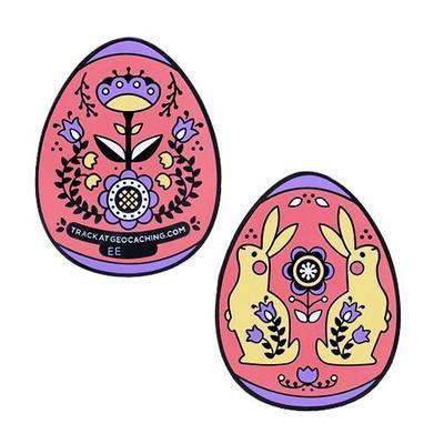 Easter Egg Geocoin - Red