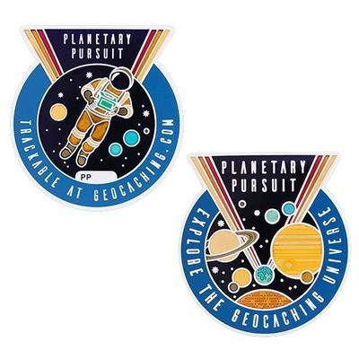 Planetary Pursuit Geocoin with Companion Tag - 1