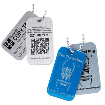 Travel Bug QR - Blue - 1