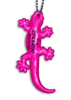 Gecko reflector, Pink