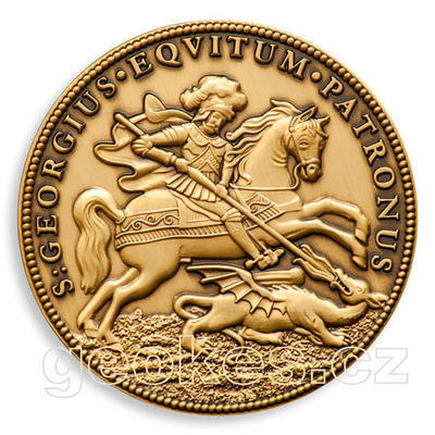 Saint George Geocoin - Antique Bronze - 1