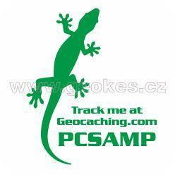 Trackable decal - green gecko