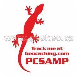Trackable decal - red gecko
