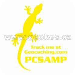 Trackable decal - yellow gecko
