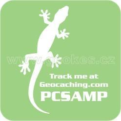 Trackable decal - white gecko