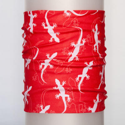 Tube bandana Gecko - red - 1