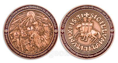 Templar MMXI Geocoin (II) Antique Copper