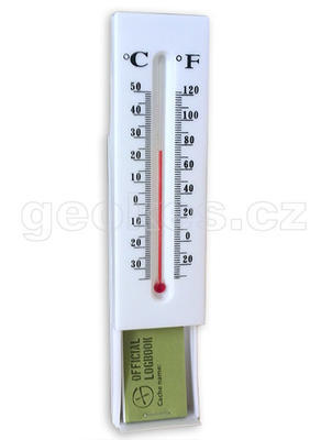 Thermometer geocache - logbook included - 1
