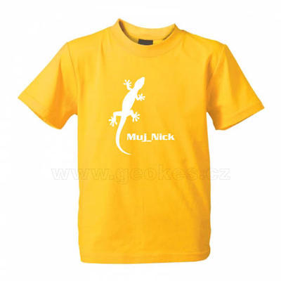 Childrens Gecko t-shirt - with personal nick