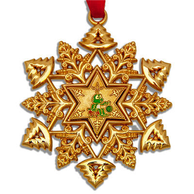 Christmas Snowflake Ornament Geocoin - 1