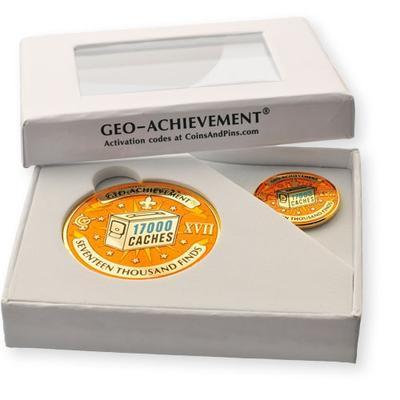 17000 Finds Geocoin + Pin + Box - 2