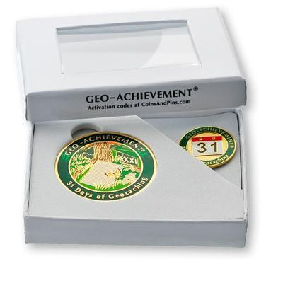 31 Days Geocoin + Pin + Box - 2