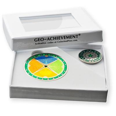 366 Days Geocoin + Pin + Box - 2