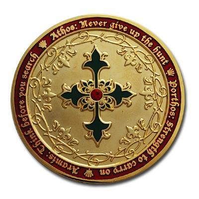 Four Musketeers Very Merry Geocoin - 2
