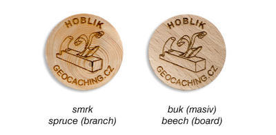Wooden Coin 50 pcs, spruce (branch) - 2