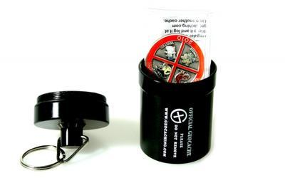 Small geocache - aluminium container BLACK - 2