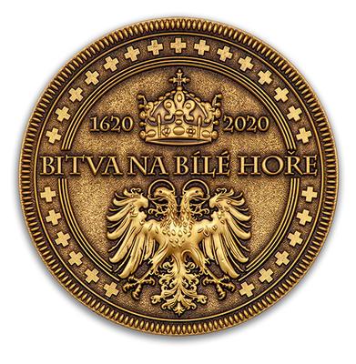 Bitva na Bile hore 1620-2020 - Antique Bronze - 2