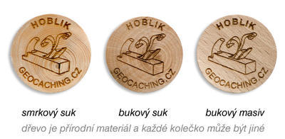 Wooden Coin 50 pcs, beech (board) - 2