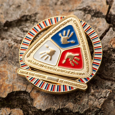 GPS MAZE Europe 2017 Geocoin - Gold Edition - 2