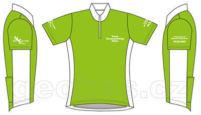 Trackable cycling jersey ladies - geocaching nick - 2