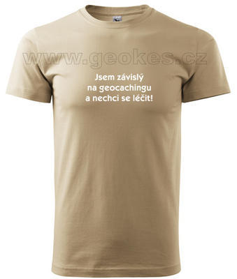 Czech addicted geocacher t-shirt - 2