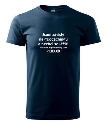 Czech addicted geocacher trackable t-shirt - 2