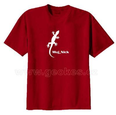 Gecko t-shirt - with personal nick - 2
