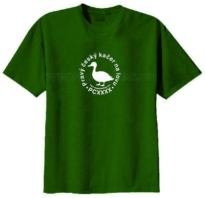 Czech geocacher trackable t-shirt - 2