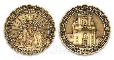 Jesulus Pragensis - Prague Geocoin 2012 - Antique Bronze - 2