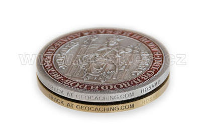 Karel IV – King of Bohemia Geocoin - Antique Silver - 2