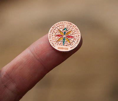 Mapamundi Microgeocoin Copper - 2