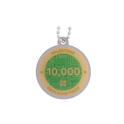 10.000 Finds Milestone Geocoin and Tag Set - 2